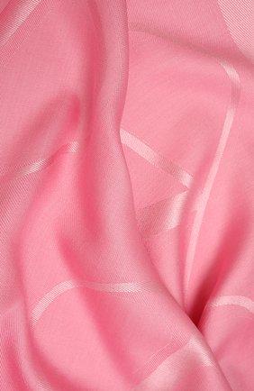 Женская шаль из шелка и шерсти  VALENTINO розового цвета, арт. WW2EB104/AJB | Фото 2