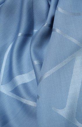 Женская шаль из шелка и шерсти  VALENTINO синего цвета, арт. WW2EB104/AJB | Фото 2