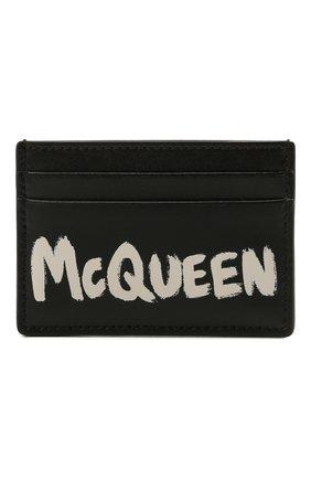 Женский кожаный футляр для кредитных карт ALEXANDER MCQUEEN черного цвета, арт. 658453/1AAC7   Фото 1