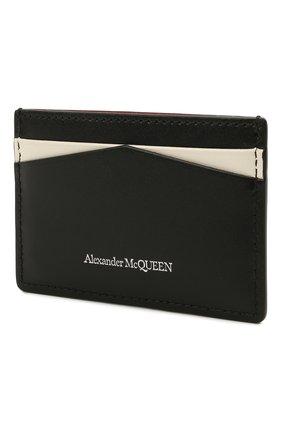 Женский кожаный футляр для кредитных карт ALEXANDER MCQUEEN черного цвета, арт. 658453/1AAC7   Фото 2