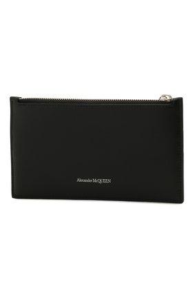 Женские кожаное портмоне ALEXANDER MCQUEEN черного цвета, арт. 658451/1AAC7 | Фото 2