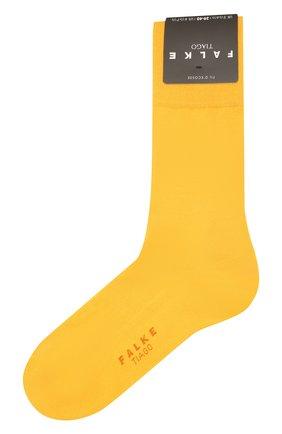Мужские хлопковые носки tiago FALKE желтого цвета, арт. 14662 | Фото 1