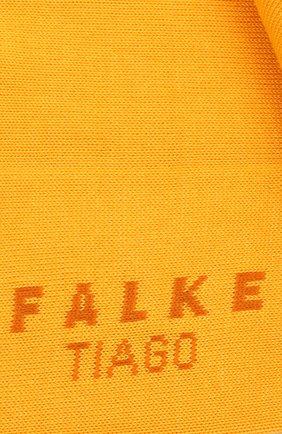 Мужские хлопковые носки tiago FALKE желтого цвета, арт. 14662 | Фото 2