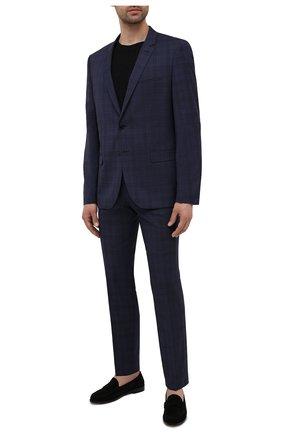 Мужской шерстяной костюм HUGO темно-синего цвета, арт. 50454384 | Фото 1