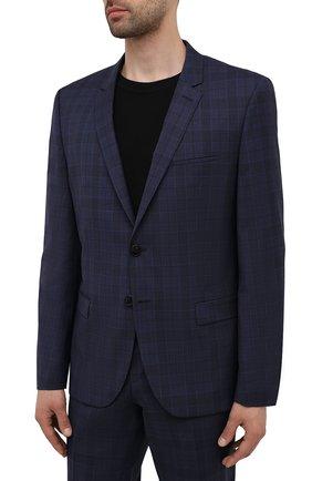 Мужской шерстяной костюм HUGO темно-синего цвета, арт. 50454384 | Фото 2