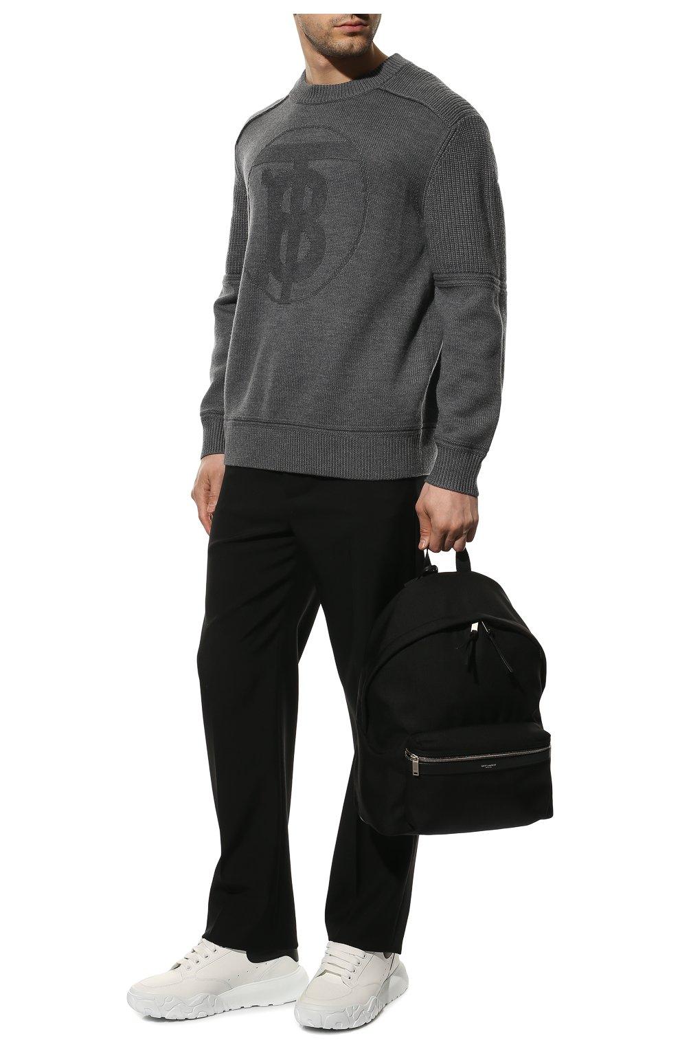 Мужские кожаные кроссовки ALEXANDER MCQUEEN белого цвета, арт. 634619/WIA99 | Фото 2 (Материал внутренний: Натуральная кожа; Стили: Гранж; Подошва: Массивная)