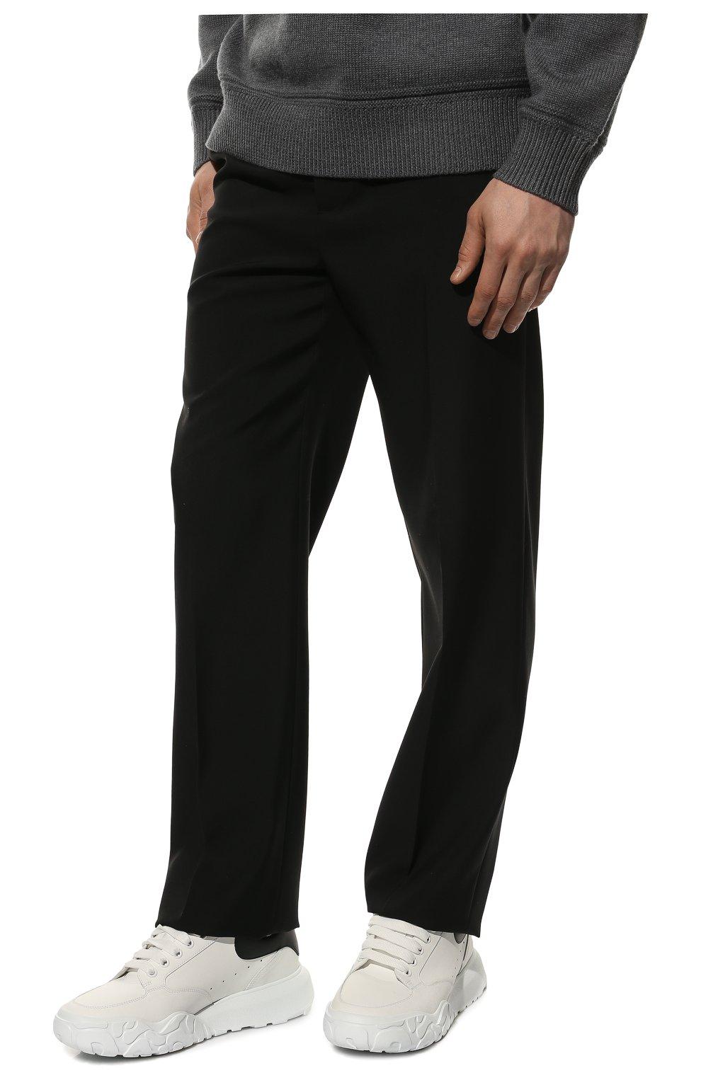 Мужские кожаные кроссовки ALEXANDER MCQUEEN белого цвета, арт. 634619/WIA99 | Фото 3 (Материал внутренний: Натуральная кожа; Стили: Гранж; Подошва: Массивная)