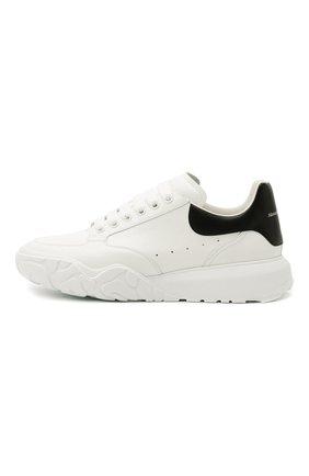 Мужские кожаные кроссовки ALEXANDER MCQUEEN белого цвета, арт. 634619/WIA99 | Фото 4 (Материал внутренний: Натуральная кожа; Стили: Гранж; Подошва: Массивная)