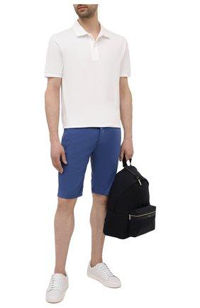 Мужские шорты KITON синего цвета, арт. UFBLACJ07T37 | Фото 2