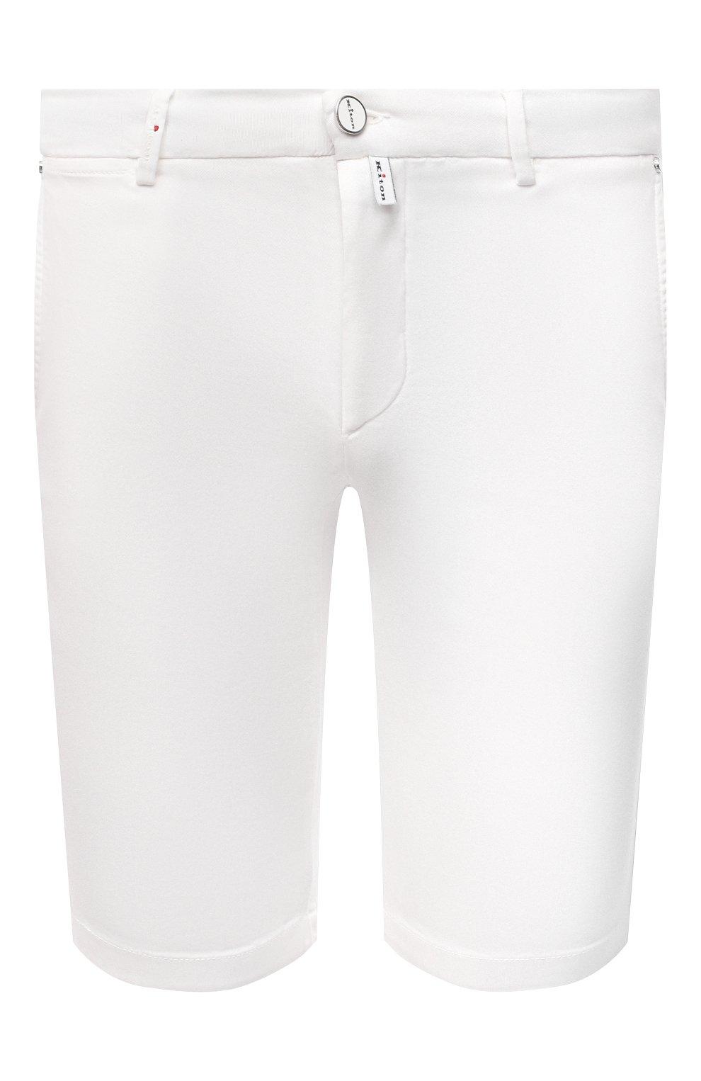 Мужские шорты KITON белого цвета, арт. UFBLACJ07T37   Фото 1