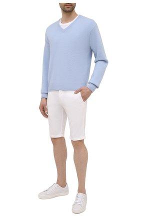 Мужские шорты KITON белого цвета, арт. UFBLACJ07T37 | Фото 2
