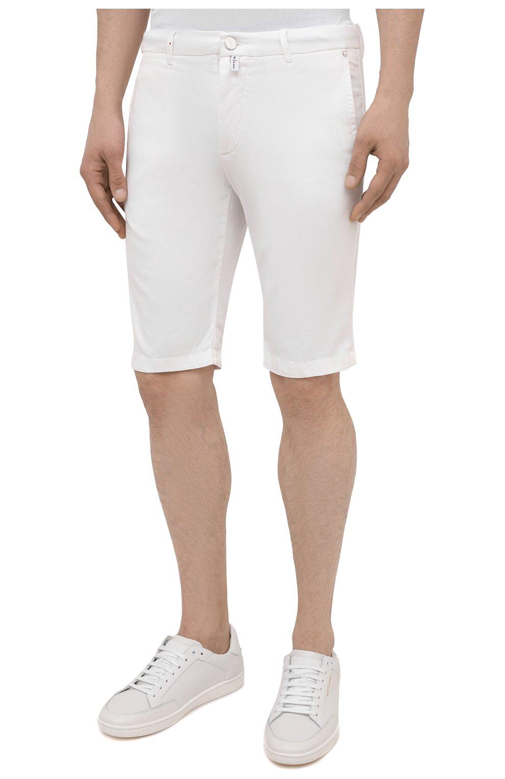 Мужские шорты KITON белого цвета, арт. UFBLACJ07T37   Фото 3