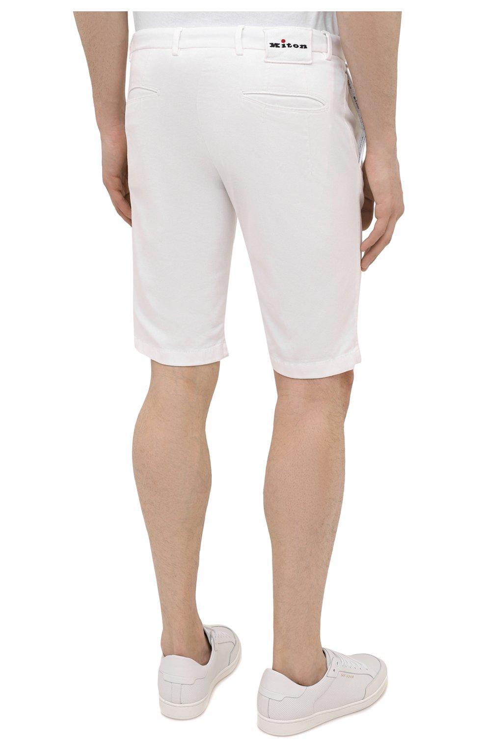 Мужские шорты KITON белого цвета, арт. UFBLACJ07T37   Фото 4