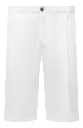 Мужские шорты из хлопка и льна PAUL&SHARK белого цвета, арт. 21414041/FJD/62-64 | Фото 1