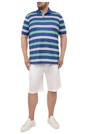 Мужские шорты из хлопка и льна PAUL&SHARK белого цвета, арт. 21414041/FJD/62-64 | Фото 2