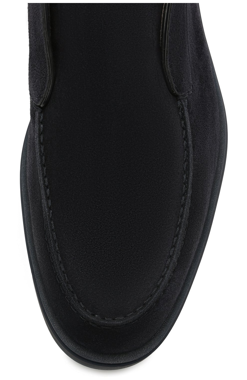 Мужские замшевые ботинки SANTONI темно-синего цвета, арт. MGDG1782300TESVUU60 | Фото 5 (Мужское Кросс-КТ: Ботинки-обувь; Материал внутренний: Натуральная кожа; Подошва: Плоская; Материал внешний: Замша)