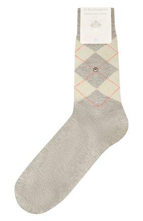 Мужские хлопковые носки BURLINGTON светло-серого цвета, арт. 21059 | Фото 1