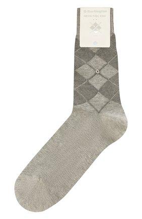 Мужские хлопковые носки BURLINGTON светло-серого цвета, арт. 21060 | Фото 1