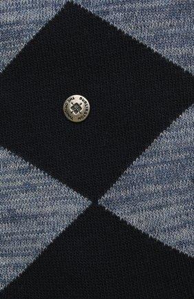 Мужские хлопковые носки BURLINGTON синего цвета, арт. 21062 | Фото 2