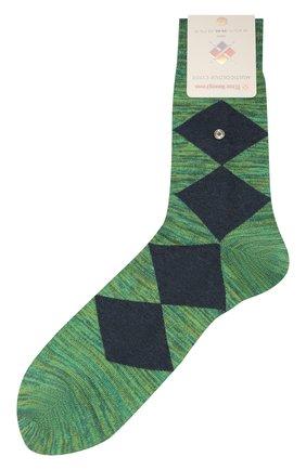 Мужские хлопковые носки BURLINGTON зеленого цвета, арт. 21062 | Фото 1