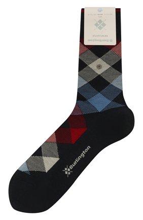 Мужские шерстяные носки newcastle  BURLINGTON темно-синего цвета, арт. 21123 | Фото 1