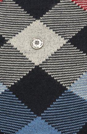 Мужские шерстяные носки newcastle  BURLINGTON темно-синего цвета, арт. 21123 | Фото 2