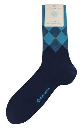 Мужские хлопковые носки BURLINGTON темно-синего цвета, арт. 21912 | Фото 1
