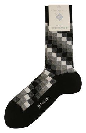 Мужские хлопковые носки BURLINGTON серого цвета, арт. 21933 | Фото 1