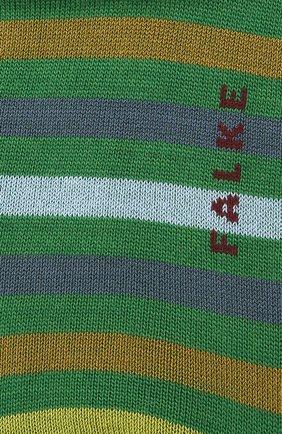 Мужские носки из смеси шерсти и хлопка tinted stripe FALKE зеленого цвета, арт. 13279 | Фото 2