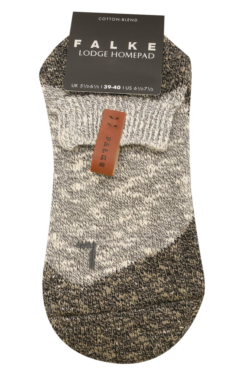 Мужские хлопковые носки lodge homepad FALKE серого цвета, арт. 13361 | Фото 1 (Кросс-КТ: бельё; Материал внешний: Хлопок)