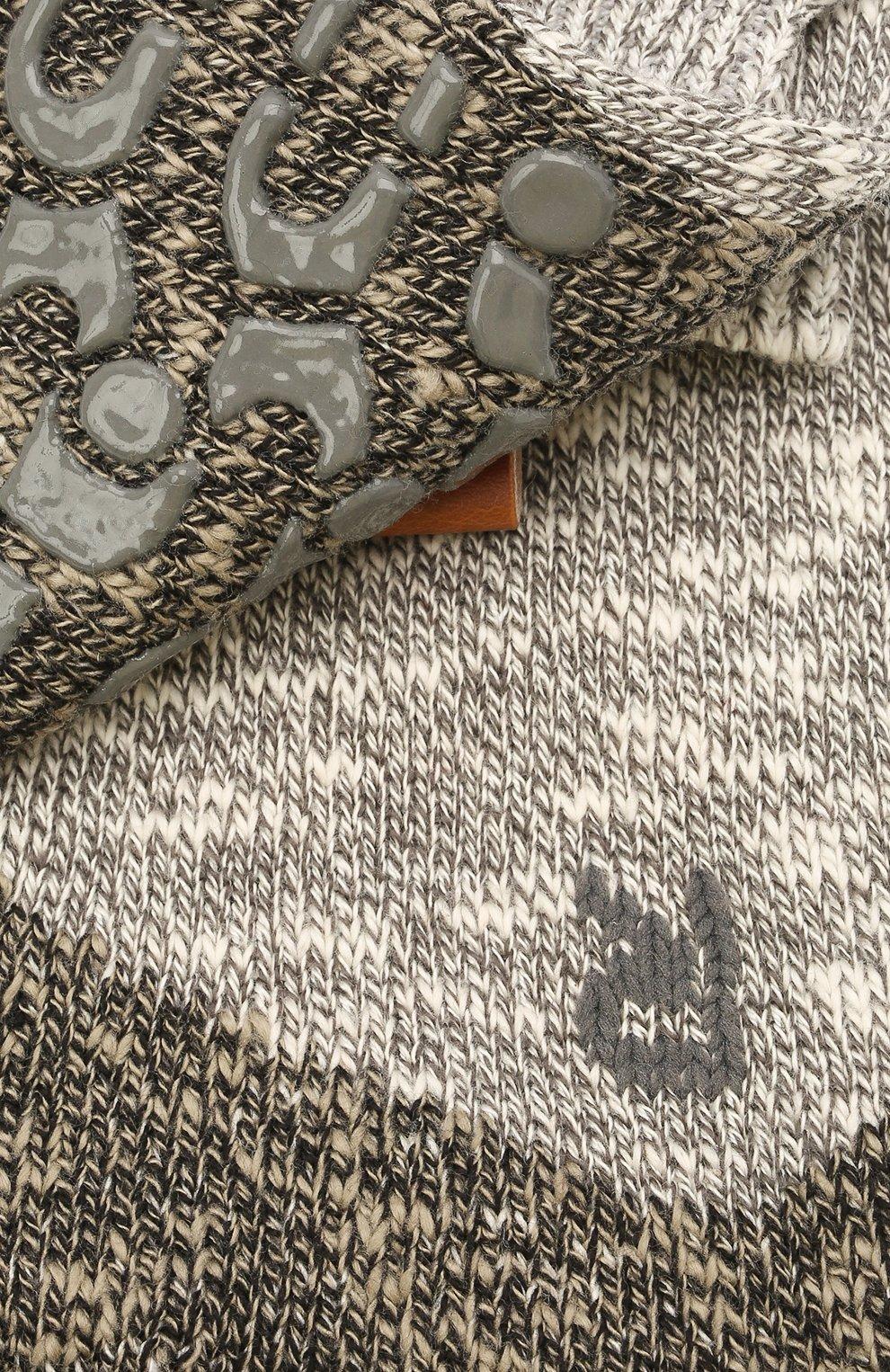 Мужские хлопковые носки lodge homepad FALKE серого цвета, арт. 13361 | Фото 2 (Кросс-КТ: бельё; Материал внешний: Хлопок)