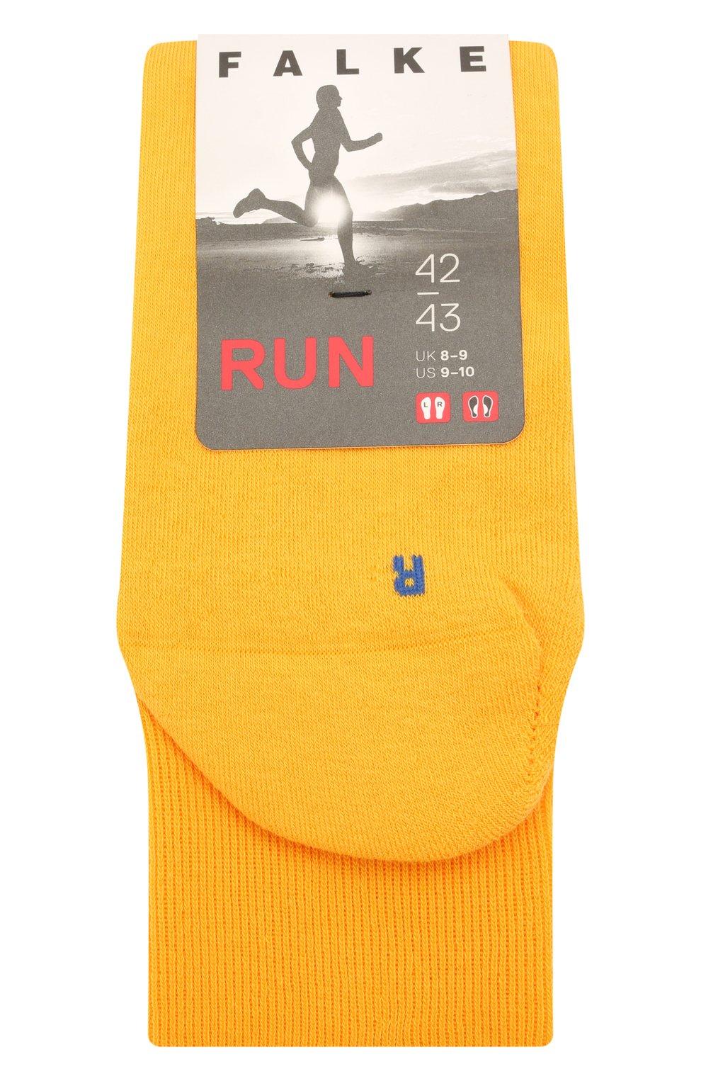 Мужские хлопковые носки FALKE желтого цвета, арт. 16605 | Фото 1 (Кросс-КТ: бельё; Материал внешний: Хлопок)
