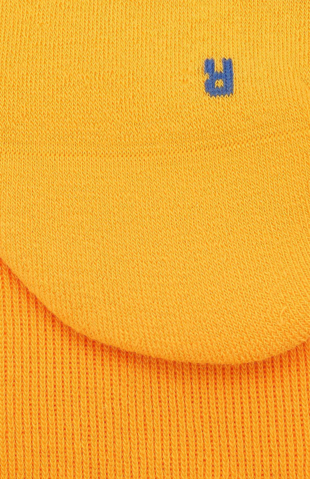Мужские хлопковые носки FALKE желтого цвета, арт. 16605 | Фото 2 (Кросс-КТ: бельё; Материал внешний: Хлопок)