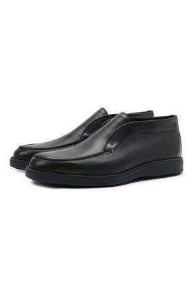Мужские кожаные ботинки SANTONI темно-синего цвета, арт. MGDG1782300TANWLU59 | Фото 1