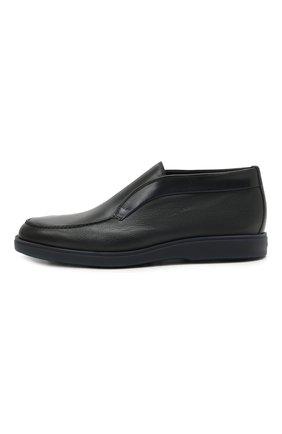 Мужские кожаные ботинки SANTONI темно-синего цвета, арт. MGDG1782300TANWLU59   Фото 3 (Материал утеплителя: Натуральный мех; Мужское Кросс-КТ: Ботинки-обувь, зимние ботинки; Подошва: Плоская)