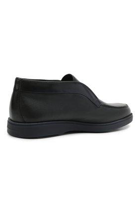 Мужские кожаные ботинки SANTONI темно-синего цвета, арт. MGDG1782300TANWLU59   Фото 4 (Материал утеплителя: Натуральный мех; Мужское Кросс-КТ: Ботинки-обувь, зимние ботинки; Подошва: Плоская)