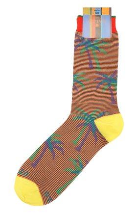 Мужские хлопковые носки GALLO желтого цвета, арт. AP511693 | Фото 1