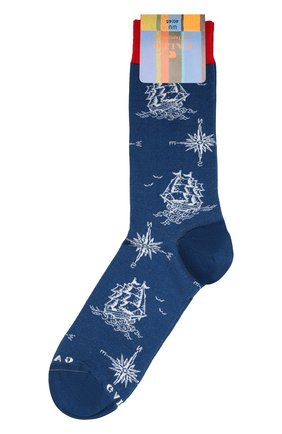 Мужские носки GALLO синего цвета, арт. AP511705 | Фото 1