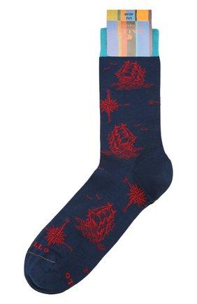 Мужские носки GALLO темно-синего цвета, арт. AP511705 | Фото 1