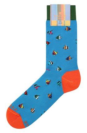 Мужские носки GALLO бирюзового цвета, арт. AP511711 | Фото 1