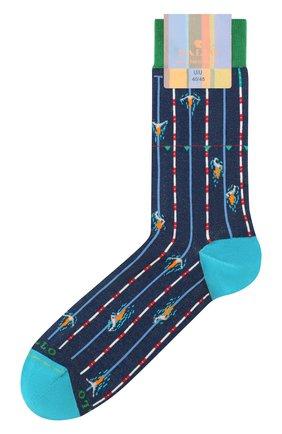 Мужские носки GALLO темно-синего цвета, арт. AP511730 | Фото 1