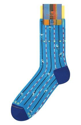 Мужские носки GALLO бирюзового цвета, арт. AP511730 | Фото 1