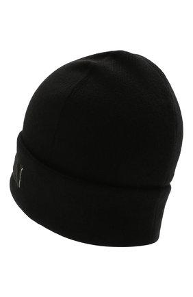 Мужская шапка из шерсти и кашемира ALEXANDER MCQUEEN черного цвета, арт. 663195/4890Q | Фото 2