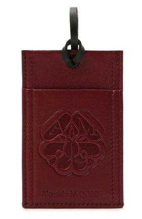 Мужской кожаный футляр для кредитных карт ALEXANDER MCQUEEN бордового цвета, арт. 663103/1AAB2 | Фото 1