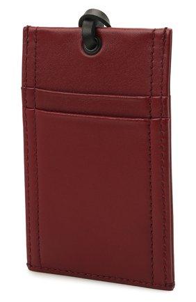 Мужской кожаный футляр для кредитных карт ALEXANDER MCQUEEN бордового цвета, арт. 663103/1AAB2 | Фото 2
