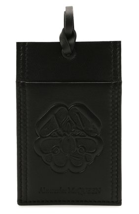 Мужской кожаный футляр для кредитных карт ALEXANDER MCQUEEN черного цвета, арт. 663103/1AAB2 | Фото 1