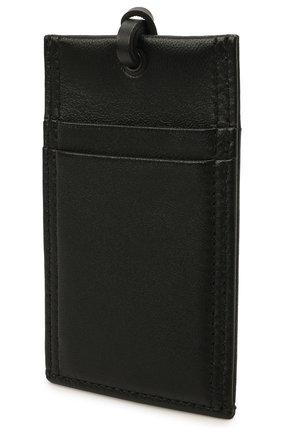 Мужской кожаный футляр для кредитных карт ALEXANDER MCQUEEN черного цвета, арт. 663103/1AAB2 | Фото 2