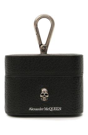 Кожаный чехол для airpods pro ALEXANDER MCQUEEN черного цвета, арт. 647255/1HG0Y | Фото 1