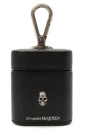 Кожаный чехол для airpods ALEXANDER MCQUEEN черного цвета, арт. 647252/1HG0Y | Фото 1