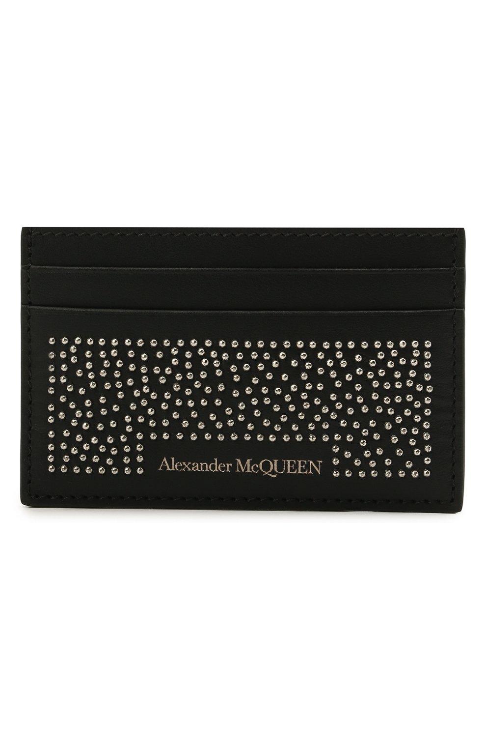 Мужской кожаный футляр для кредитных карт ALEXANDER MCQUEEN черного цвета, арт. 602144/1AACF | Фото 1